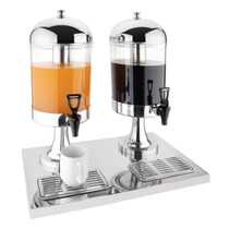 J184 Olympia Double Juice Dispenser with Drip Tray Capacity: 14 Litres