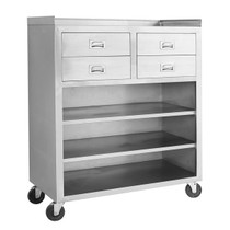 MS116 Mobile Cabinet with 4 Drawers and 3 Shelves 1160mm W x 540 D x 1400 H