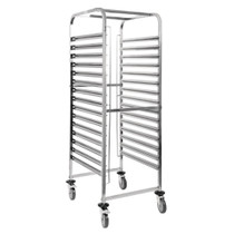 GG499 Vogue Gastronorm Racking Trolley 15 Level