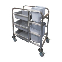 DK738 Vogue Stainless Steel Bussing Trolley