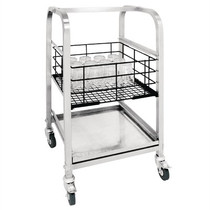 CL269 Vogue 3 Tier Glass Racking Trolley for 425mm Baskets