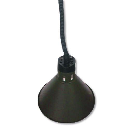 HYWBL08 Pull down heat lamp black 270mm Round