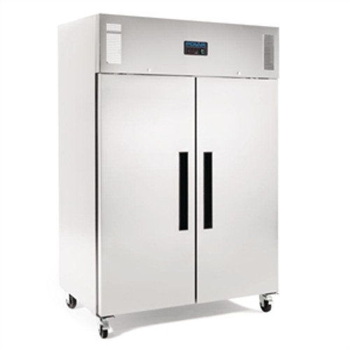 Polar G-Series 2 Door Upright Fridge 1200Ltr Stainless Steel DL895-A