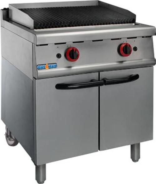 JZH-RHLPG LPG Gas Char Grill On Cabinet 700mm W x 800 D x 910 H