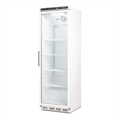 CD087-A Polar C-Series Upright Display Fridge White 400Ltr