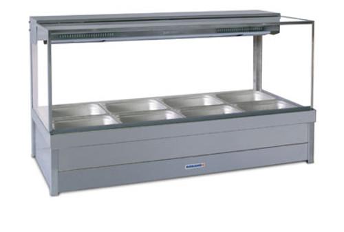 Roband Square Glass Hot Food Display Bar