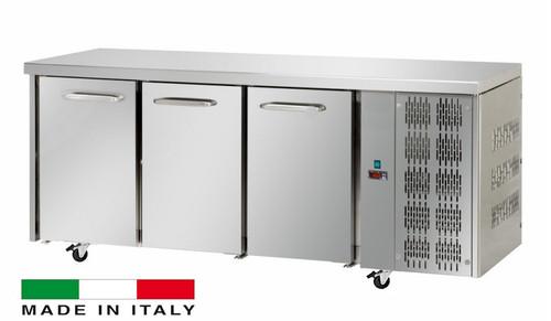 Mastercool 3 Door Stainless Steel Counter Fridge