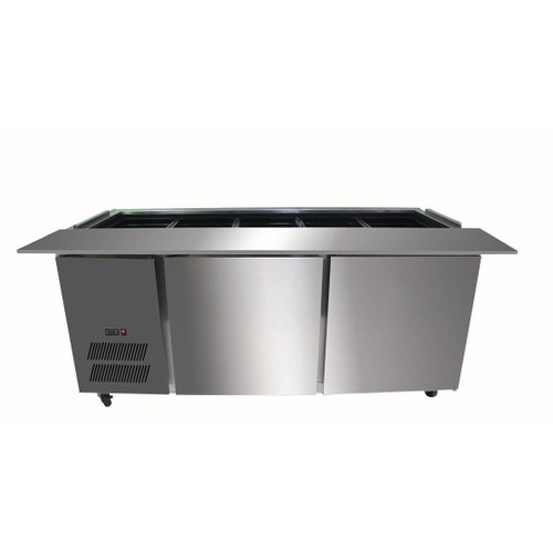 PG180FA-B Bench Station Two Door - 5×1/1 GN Pans