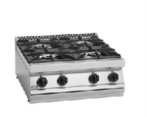 CG7-40H Fagor 700 Series Natural Gas 4 Burner SS Boiling Top