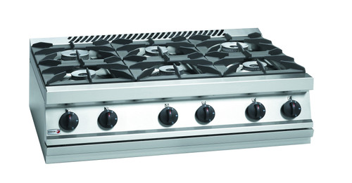 CG7-60H Fagor 700 Series Natural Gas 6 Burner SS Boiling Top