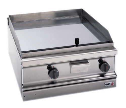 FTG-C7-10L Fagor 700 Series Natural Gas Chrome 2 Zone Fry Top with Thermostatic control