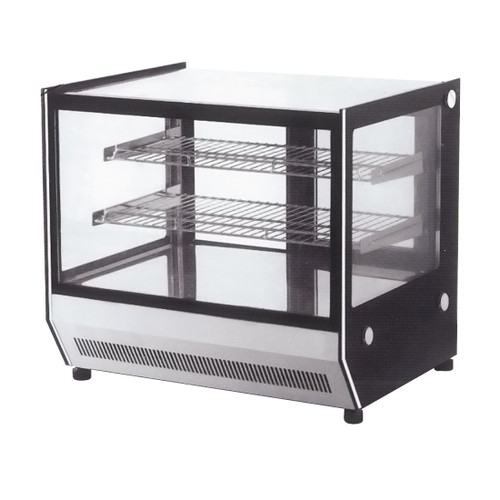 GN-660RT Counter Top Square Glass Cold Food Display 660 mm Width
