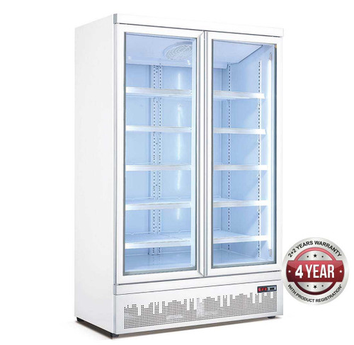 LG-1000GBM 1000 Ltr Double Glass Door Supermarket Fridge 1253mm W