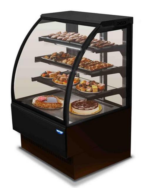 Curved Glass Cake Display