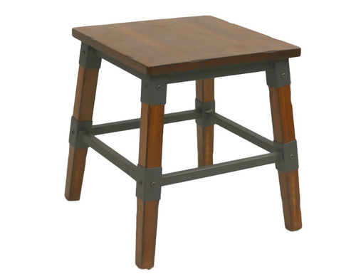 Genoa Stool 450mm H - Timber Seat (unassembled price)