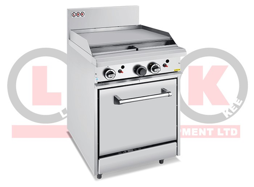 2 Open Burner Cooktop & 300mm RHS Griddle Static Oven Range - LKKOB4B+O