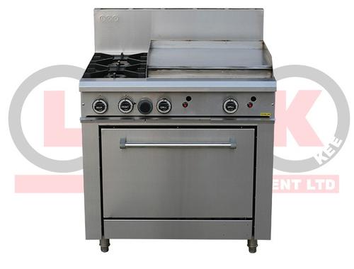 2 Open Burner Cooktop & 600mm RHS Griddle Static Oven Range - LKKOB6B+O
