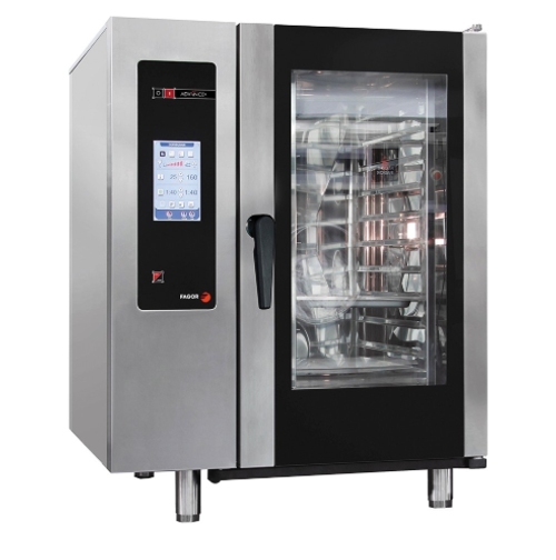 APG-101 Fagor Advanced Plus Gas 10 Trays Touch Screen Control Combi Oven with Cleaning System