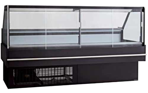 DD2000SH 240Ltr Square front glass hot deli display 1875mm W