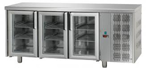 Mastercool 3 Glass Door Stainless Steel Counter Fridge 460 Litre TF03MIDPV