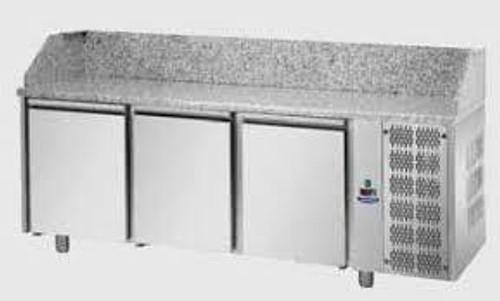 PZ03MID80 Mastercool Italian 3 Door Pizza Counter with Granite Worktop 2160mm Width