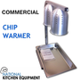 Deaken Double Bulb Heat lamp / Chip Warmer with GN 1/1 Tray