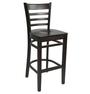 Florence Barstool - Chocolate - Timber Seat