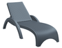 Fiji Sunlounger - No Cushion - Anthracite