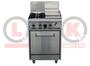 2 Open Burner Cooktop & 300mm RHS Griddle Static Oven Range - LKKOB4C+O
