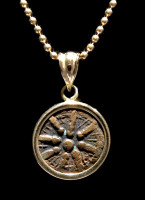 WIDOWS MITE COIN PENDANT IN HIGH POLISHED 14KT GOLD SETTING  *CB05-2