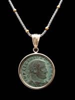 CPR152 - ANCIENT ROMAN COIN PENDANT OF THE TETRARCHY EMPEROR LICINIUS