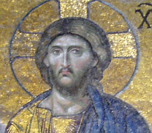 BYZANTINE ROMAN ICON OF JESUS