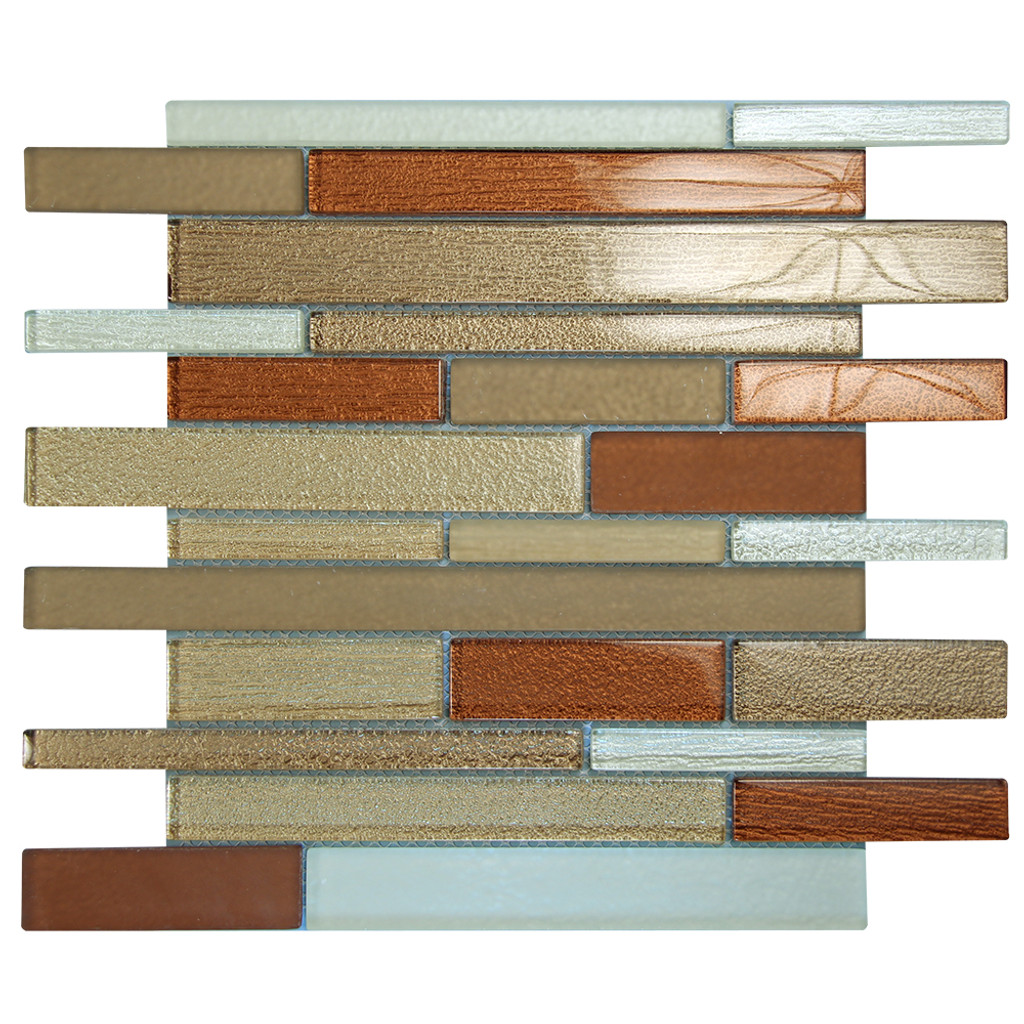 Anora Brown Mosaic Glass Tile