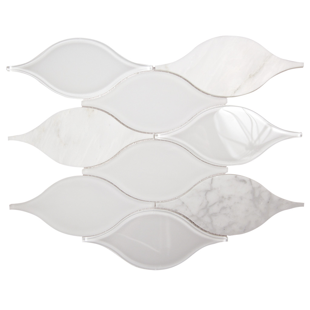 Chandelier Carrara Teardrop Glass Mosaic Tile