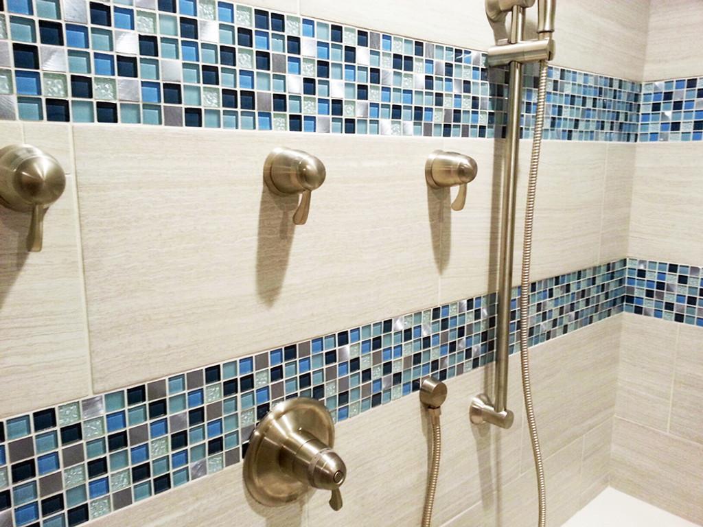 coeus majestic blue mosaic glass tile