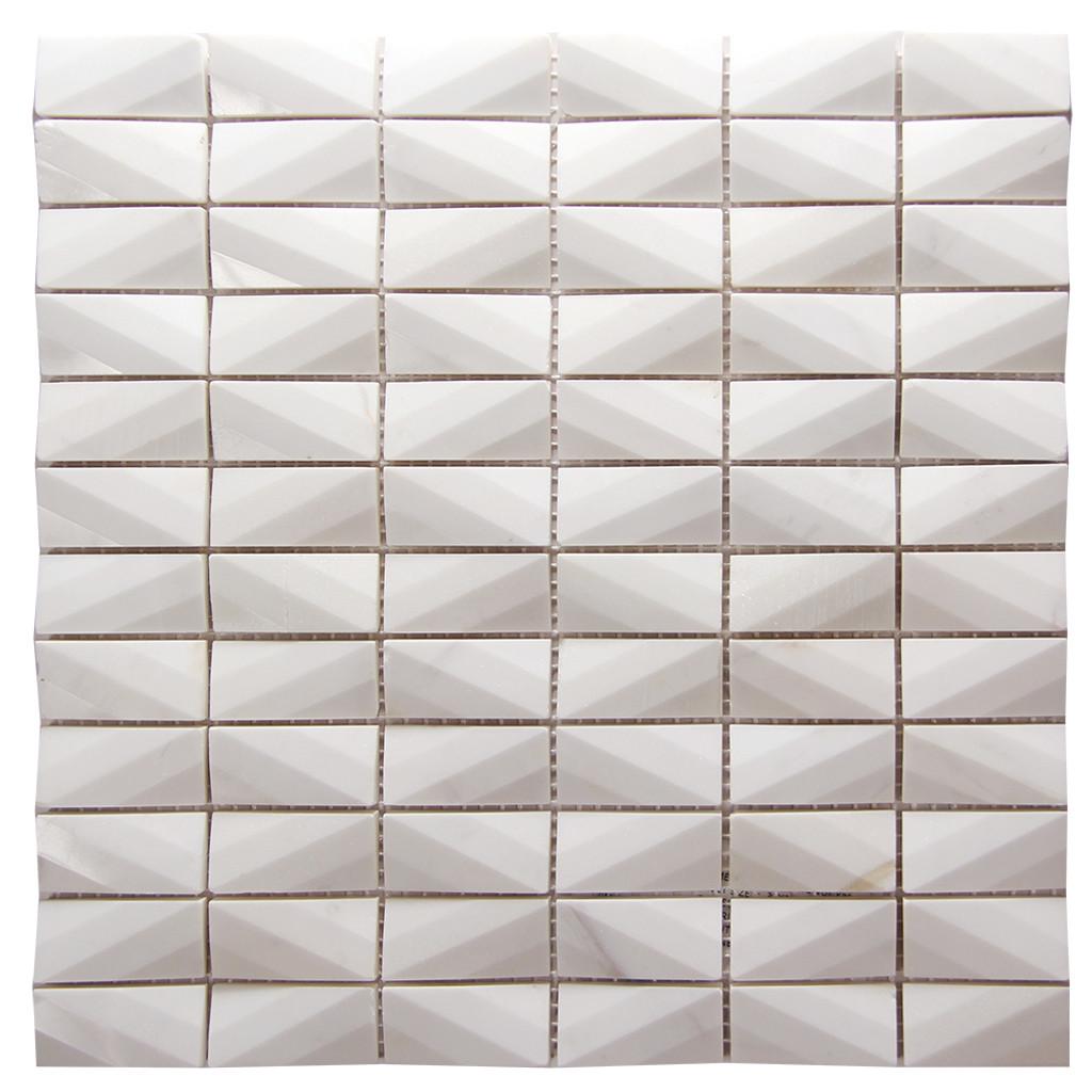 Diamond Volakes White Marble Tile