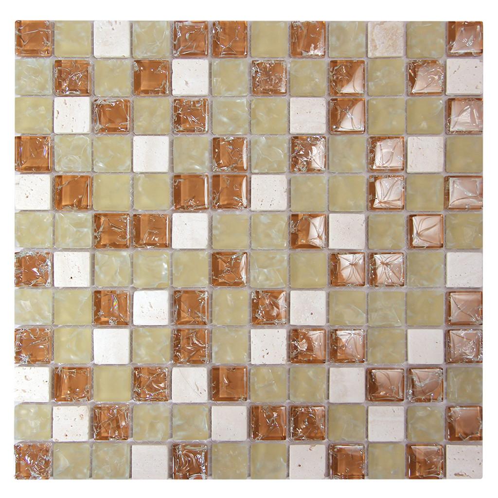 Electra GMC 6 Tan Mosaic Glass Tile