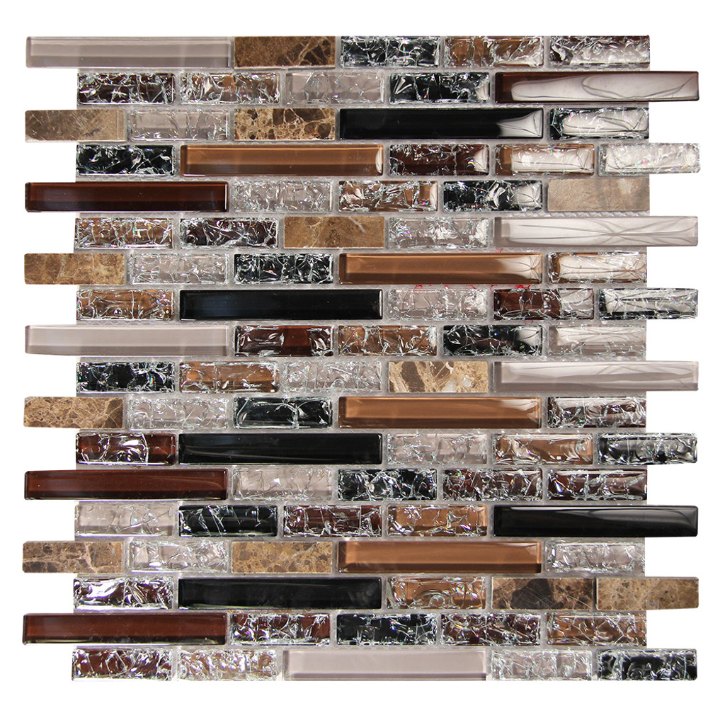 Eros 2 Taupe Mosaic Glass Tile