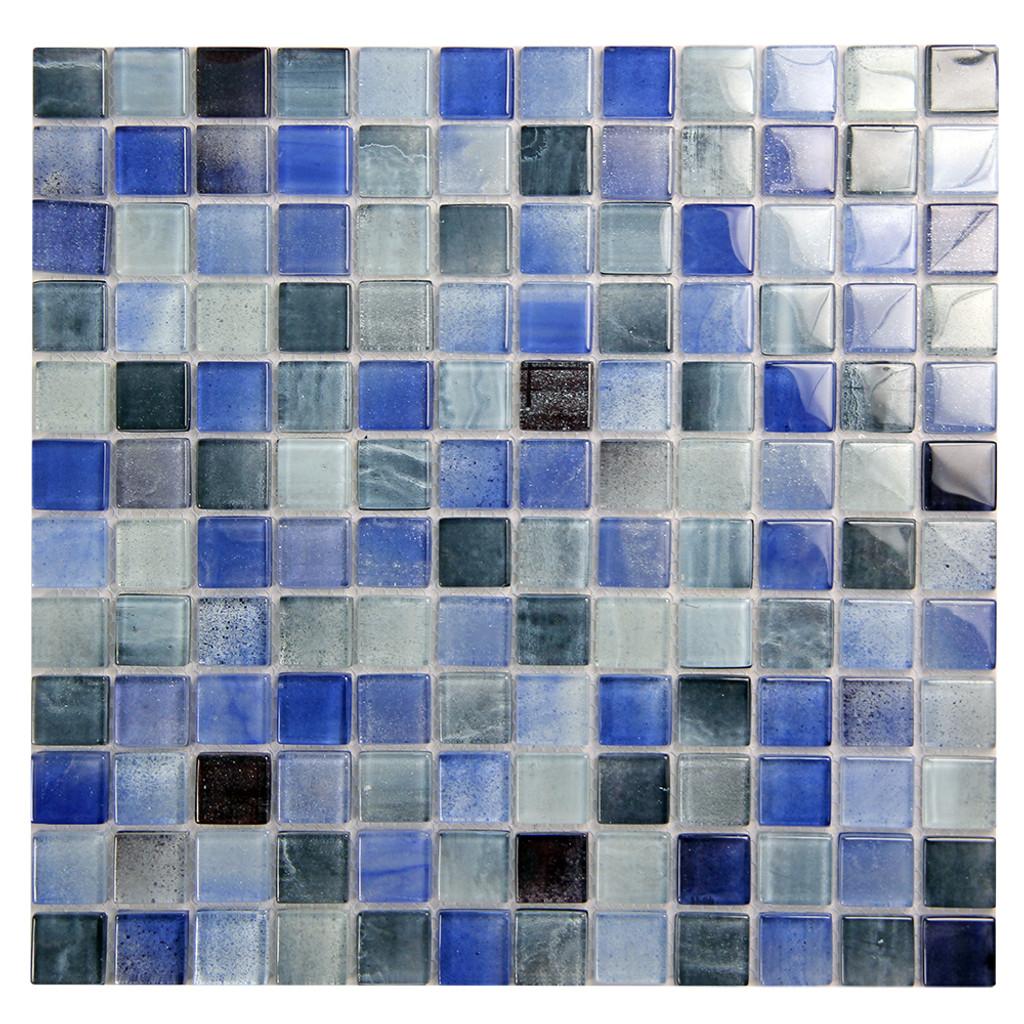 Extant Blue Mix 1x1 Pool Mosaic Glass Tile