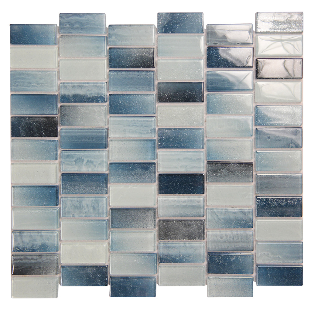 Extant Emerald 1x2 Pool Mosaic Glass Tile