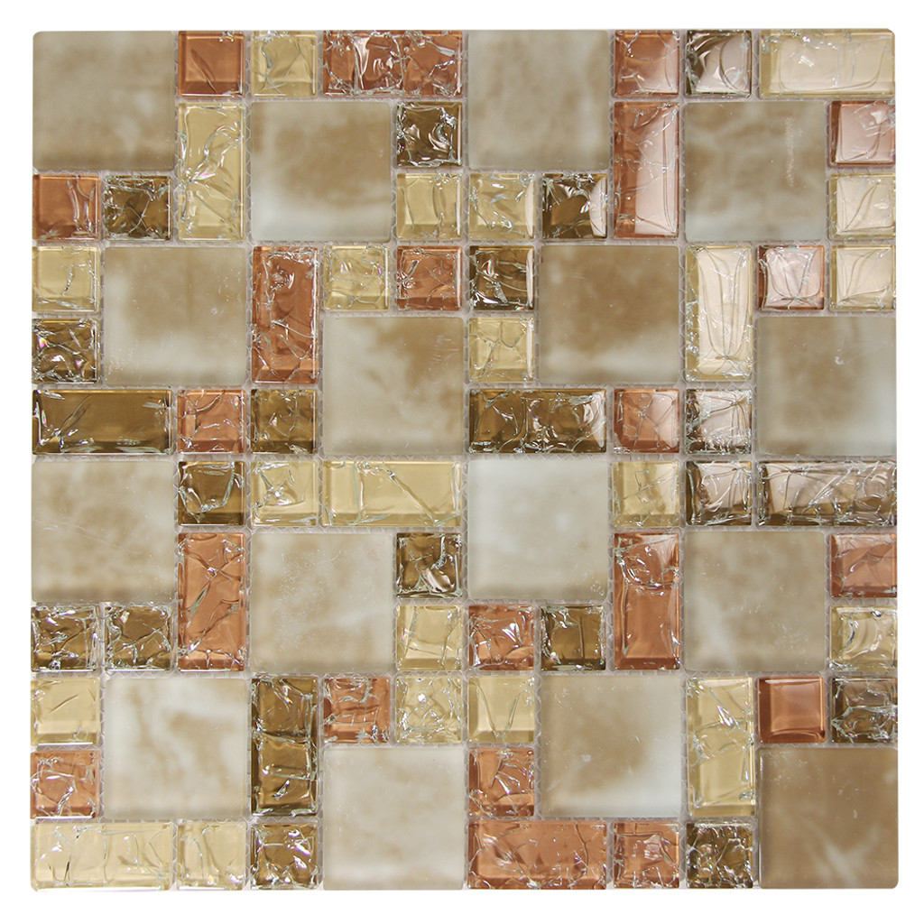 French Pattern Crius 1 Mosaic Glass Tile