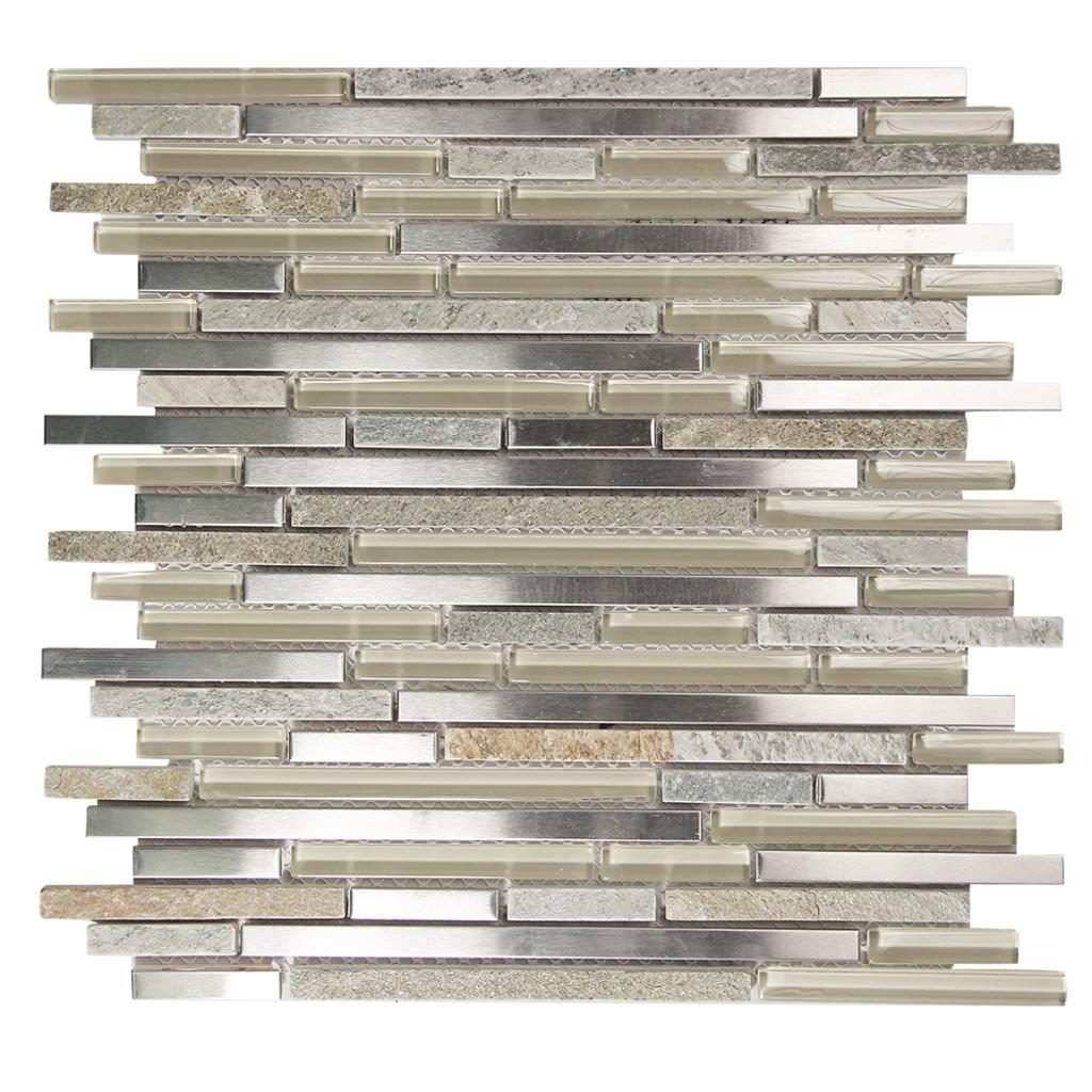 Hebe 008 Mosaic Metal Tile