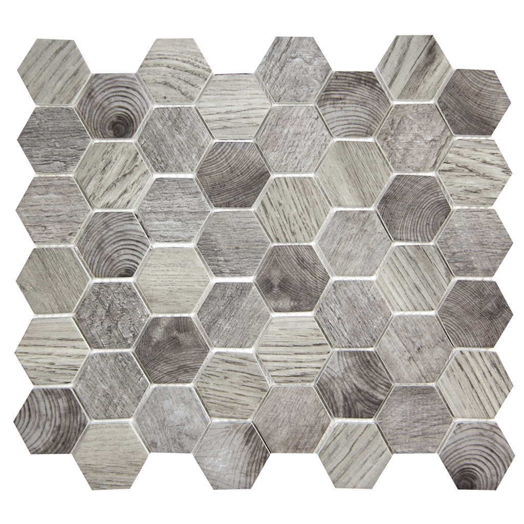 Hexacycle Charcoal Grey Hexagon Recycled Glass Tile