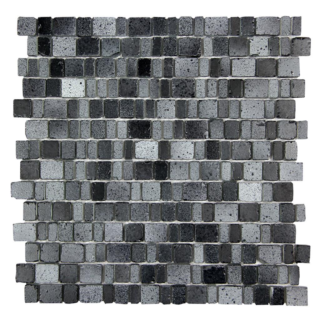 Ice Age Coal Mosaic Glass Tile