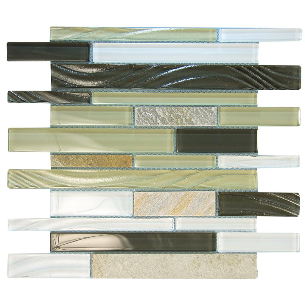 Milan Grey SW Mosaic Glass Tile