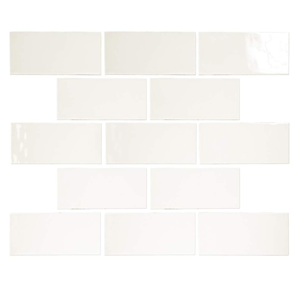 Pastel Off White Glossy 3x6 Porcelain Subway Tile