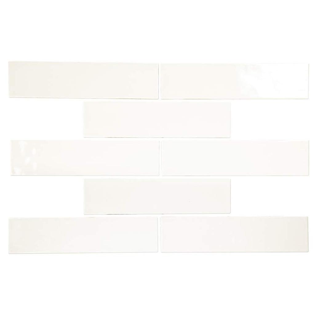 Pastel Off White Glossy 3x12 Porcelain Subway Tile - Box of 5.5 Sq. Ft.