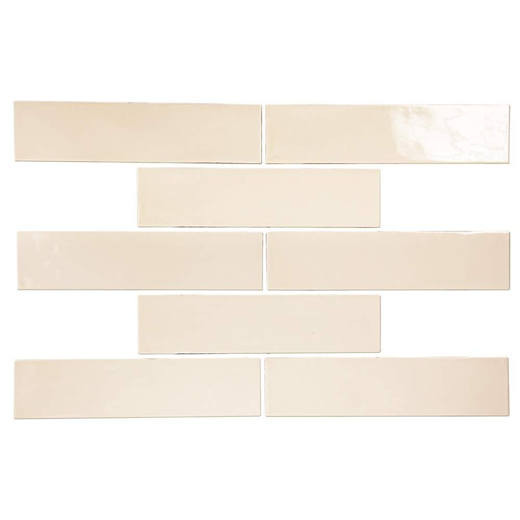 Pastel Buff Glossy 3x12 Porcelain Subway Tile