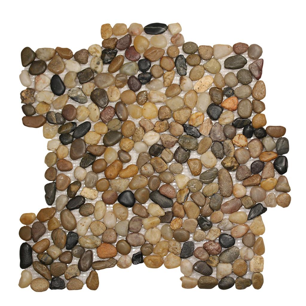 Pebble Stone Small Round Mixed Tile