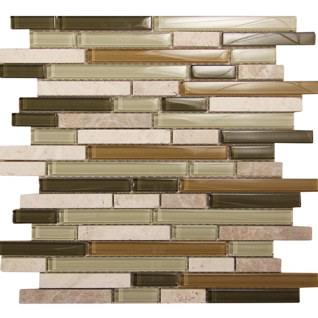 Selene 10 Mosaic Glass Tile